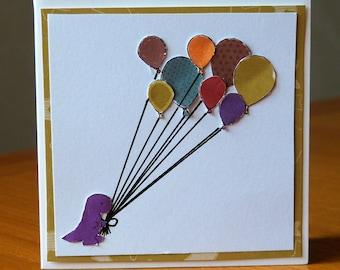 Handmade Mini Dinosaur Greetings Card
