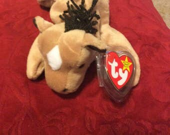 "Retired RARE Mint condition Ty ""Derby"" (white spot) beanie baby"