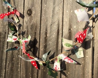 Christmas rag garland