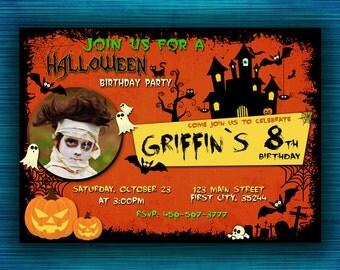 Halloween Party Invitation-Halloween Costume Party Invitation-Birthday Halloween Invitation-Halloween Party-Halloween Birthday Party