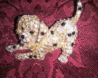 Super cute Dalmation puppy brooch