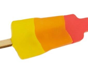 Rocket ice cream brooch
