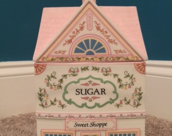 Sugar Caddy, Lenox Village Canister Series, Porcelain