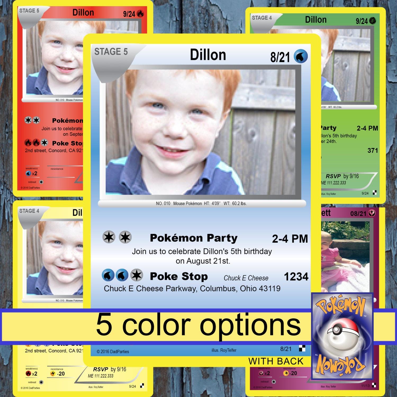pokemon invitation pokemon pokemon party pokemon birthday – Birthday Pikachu Card