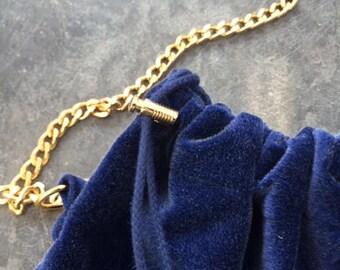 oak3 velvet bag - Deep Blue