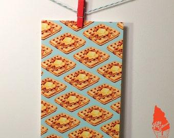 Waffle Pattern Postcard