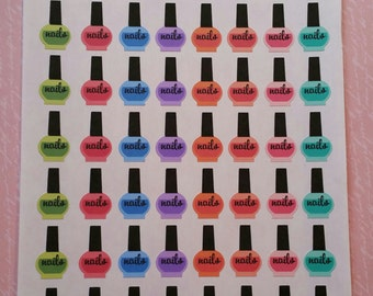 Happy Planner Nail Polish Planner Stickers Set of 56