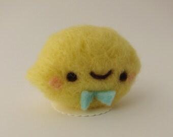 Sour Lemon of Needle Felted Wool
