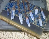 Blue Kyanite Blade Necklace | Raw Blue Kyanite | Electroformed Gemstone | Statement Necklace | Boho | Gypsy | Gemstone Charm