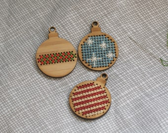 Bamboo ornaments to cross stitch
