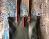 Flux soft tote in racing green