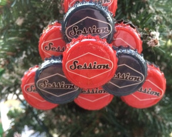 Session beer bottle cap ornament