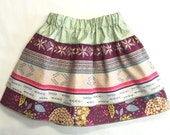 Toddler/Girls 3-Tier Skirt - Girls' Purple and Cream Aztec Skirt - Toddler Outfit