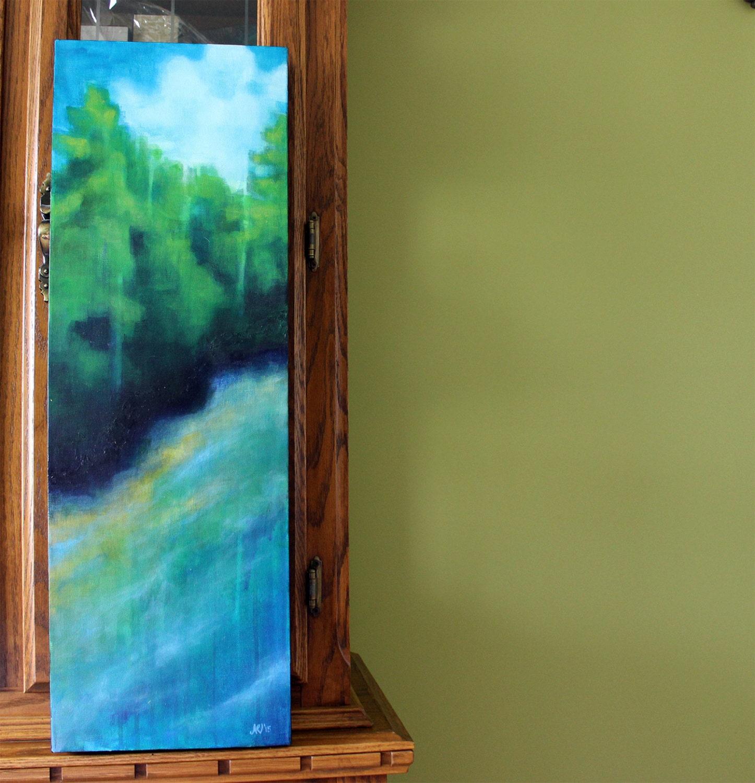 Cove Island Passage Original Acrylic Painting on Gallery Canvas Landscape Wall Art Landscape Impressionist Art Painting