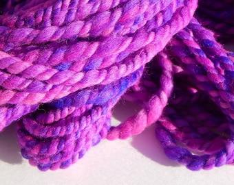Purple Static-Handspun Wool Yarn