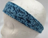Headband for women - Headband for Girls - Yoga - Runner - Activewear - Reversible Headband - Cotton Headband - Blue