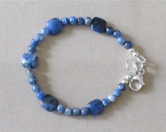 Skinny Blue Sodalite Bracelet - Stacking Bracelet with Blue Sodalite - Classic Southwestern Jewelry - Jewelry That Looks Great With Jeans
