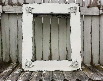 Shabby Chic PICTURE FRAME   Vintage Home Decor   16x20   Frame for Wedding Portrait