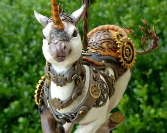 Steampunk Carousel Horse Sculpture