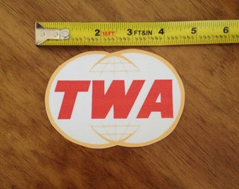 TWA Decals-Permanent AND Removable Love to FLY