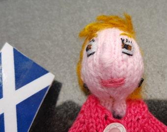 Nicola Sturgeon Style Finger puppet