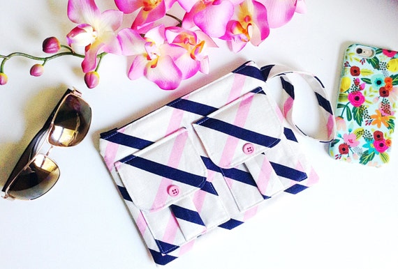 Pink Clutch Wristlet, Wristlet Wallet, iPhone Wristlet, Zipper Pouch, Clutch Purse, Cell Phone Wristlet