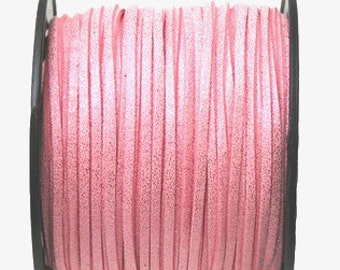 20 Feet Faux Metallic Suede Cord Leather Lace 3mm for Jewelry & Crafts You Choose Color