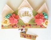 Spring Flower Crown Birthday Hat