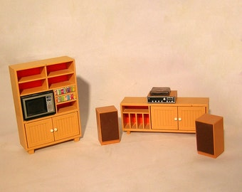 1970s TOMY EnterTAINment ROOm DOLLHOUSE FurnITUre JApaN