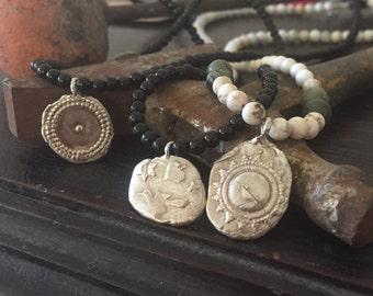 Sterling silver cast amulet necklace - Shipwreck