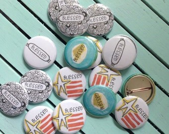 blessed - blessing buttons - set of 30