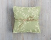 Green Leaf Lavender Sachets, Modern Home Decor, Cottage Chic