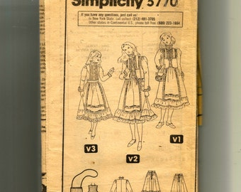 Simplicity  Child's Skirt, Blouse, Vest and Bag Pattern 5770