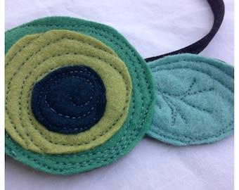 40% FLASH SALE- The Little Garden Bloom- Felt Headband-Brooch-