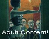 SALE! - 'A Slight Misunderstanding' - signed fetish fantasy art print - mature content