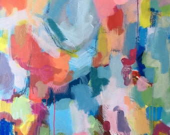 24 x 30 Expressionist Abstract Art by Brenna Giessen