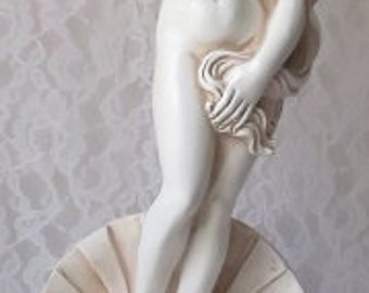 "Vintage Birth of Venus Reproduction of Sandro Botticelli, Sculpture, Statue, Figurine, Chalkware, 18"" Tall"