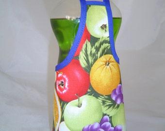 Apple Orange Grape Fruit  Dish Soap Bottle Apron Cover Staffer Party Favor Kitchen Decor Lg