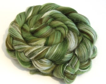 Merino Wool and Silk Blend Combed Top Olive Tree Fine Merino Fiber for Felting or Spinning Yarn