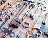 Bent and Broken Antique Key Lot / Instant Collection