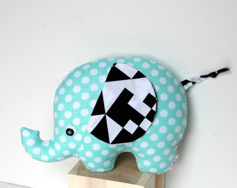 Unique Baby Gift, Plush Elephant, Plush Softie, Stuffed Elephant Baby Toy