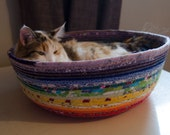 Cuddly cat snuggle bed - Fall Colors - Rainbow Pride - Limited Edition