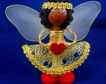 African American Angel Yes Jesus Loves You