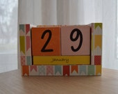Perpetual Wooden Block Calendar - Party Banners - Bunting Flags
