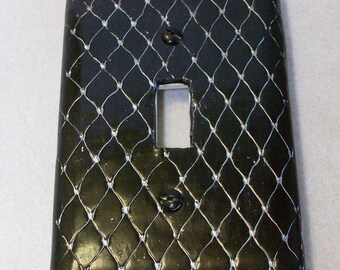 ON SALE was 10.95: Chain link light switch cover single toggle plate