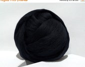 Valentine Sale Merino Roving, Needle Felting wool, Spinning Fiber, Black, Merino wool, felting wool, black wool, black roving, black Merino