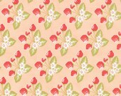 Strawberry Fields Revisited - Strawberry Jam in Blush (Pink): sku 20264-16 cotton quilting fabric by Fig Tree for Moda Fabrics - 1 yard