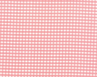SALE - Gooseberry - Scallops Ruffled in Petal Pink: sku 5015-12 cotton quilting fabric by Lella Boutique for Moda Fabrics - 1 yard