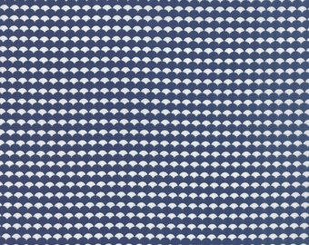 SALE - Gooseberry - Scallops Ruffled in Midnight Blue: sku 5015-17 cotton quilting fabric by Lella Boutique for Moda Fabrics - 1 yard