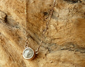 Round Rose Cut Diamond Necklace - Deposit